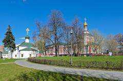Novodevichy convent, russia Stock Photos