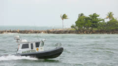 Miami Dade Police Boat - stock footage