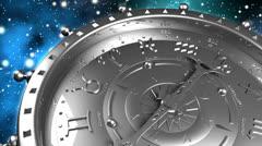 Silver Zodiac Machine Stock Footage