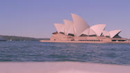 Stock Video Footage of Sliding shot of Opera house with stereo sound