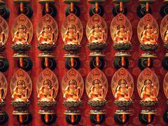 guan yin in chinese temple - stock photo