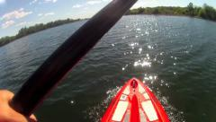 SUP STAND UP PADDLE BOARD POV 30 second clip hd 1080 high definition - stock footage