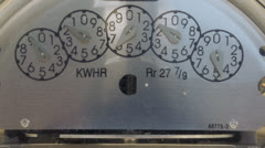Power meter dial turns Stock Footage