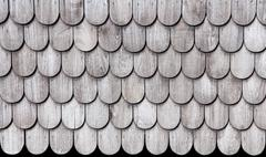 pattern of wooden roofs.old thai style. - stock photo