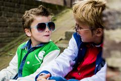 fun fashion boys - stock photo