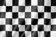 Stock Illustration of auto racing finish checkered flag