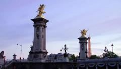 Alexandre III bridge from a boat on the Seine river in Paris - 3 views Stock Footage