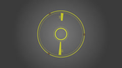 Abstract round vector shape Stock Footage