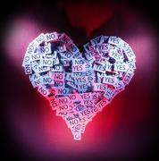 Undecided heart Stock Photos