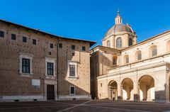 ducal palace in urbino - stock photo