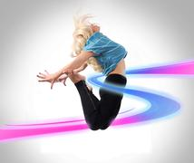 dancer jumping - stock photo