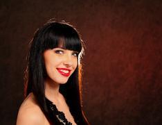 Beautiful woman smiling Stock Photos