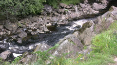 Ingelton waterfalls Thornton Force and River Twiss Stock Footage