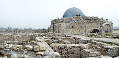 Stock Photo of Amman citadel Jordan, Al-Qasr