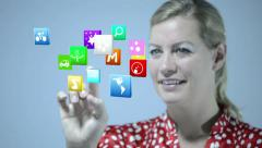 Floating Icons Stock Footage