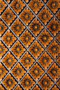 Rhombus sliced on wooden board Stock Photos