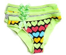 green feminine panties - stock photo