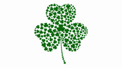 Stock After Effects of Shamrock Background