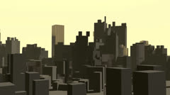 Abstract city fly-over Stock Footage