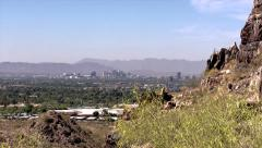 Stock Video Footage of Phoenix Area Pan with mountain