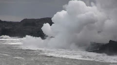 Kilauea, entering ocean Stock Footage