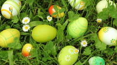 Easter eggs - stock footage