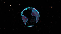 Planet Earth 3D 002 - Pop Star - 30 fps Stock Footage