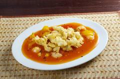 seafood tempura vegetable - stock photo