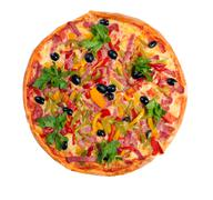 tasty italian pizza.neapolitan isolated - stock photo