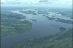 Amazon aerial Xingu river Stock Footage