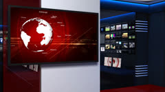 News studio_053 Stock Footage