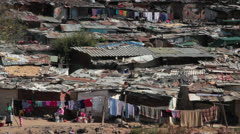 Alexandra Township shacks,South Africa Stock Footage