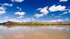 the colorado river outside of moab, ut - stock photo