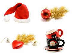 ?ollage hat santa cristmas embellishment - stock photo