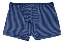 Blue striped male undershorts Stock Photos