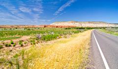 roadside scenery in utah - stock photo