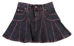 jeans mini skirt insulated - stock photo