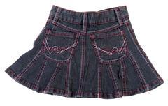 Jeans mini skirt insulated Stock Photos