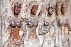 Angkor wat carving Stock Photos