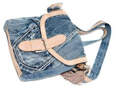 Feminine jeans bag Stock Photos