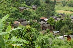 thai ethnic village - stock photo