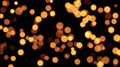 Classic Warm Defocused Particles Loop Animation Stock Footage