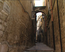 BARLETTA typical alley zoom in - stock footage