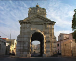 Stock Video Footage of BARLETTA Porta Marina gate