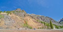 ruins of a silver mine in silverton, in the san juan mountains in colorado - stock photo