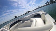 Luxury motor vessel business and pleasure downtown Miami, Florida, USA Stock Footage