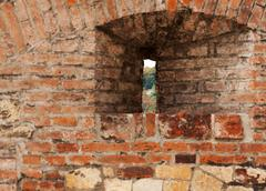 Loop-hole in the brick wall Stock Photos