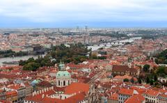 View of prague from the top Stock Photos