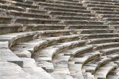 the ancient amphitheater - stock photo