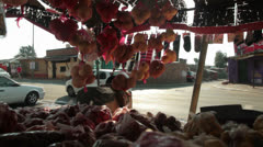 Alexandra Township fruit stall/spaza shop,Jhb,South Africa Stock Footage